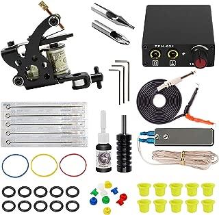 ITATOO Complete Tattoo Kit for Beginners Tattoo Power Supply Kit 1 Black Tattoo Ink 5 Tattoo Needles 1 Pro Tattoo Machine Guns Kit Tattoo Supplies