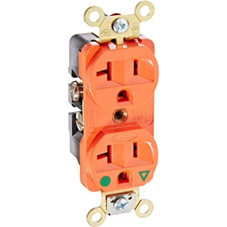 125-Volt 5-20-NEMA Rating Eaton IG8300RN-SPL Hospital Grade Premium Isolated Ground Duplex Receptacles with 20-Amp Orange