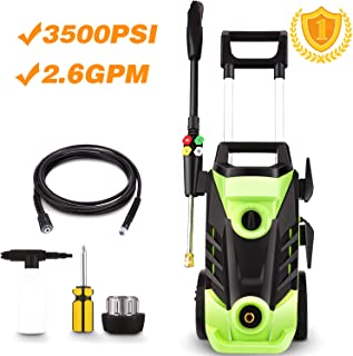 Homdox 3500 PSI Electric Pressure Washer, 1800W Power Washer, 2.6GPM High Pressure Washer, Professional Washer Cleaner Machine with 4 Interchangeable Nozzles,with Telescopic Handle Design