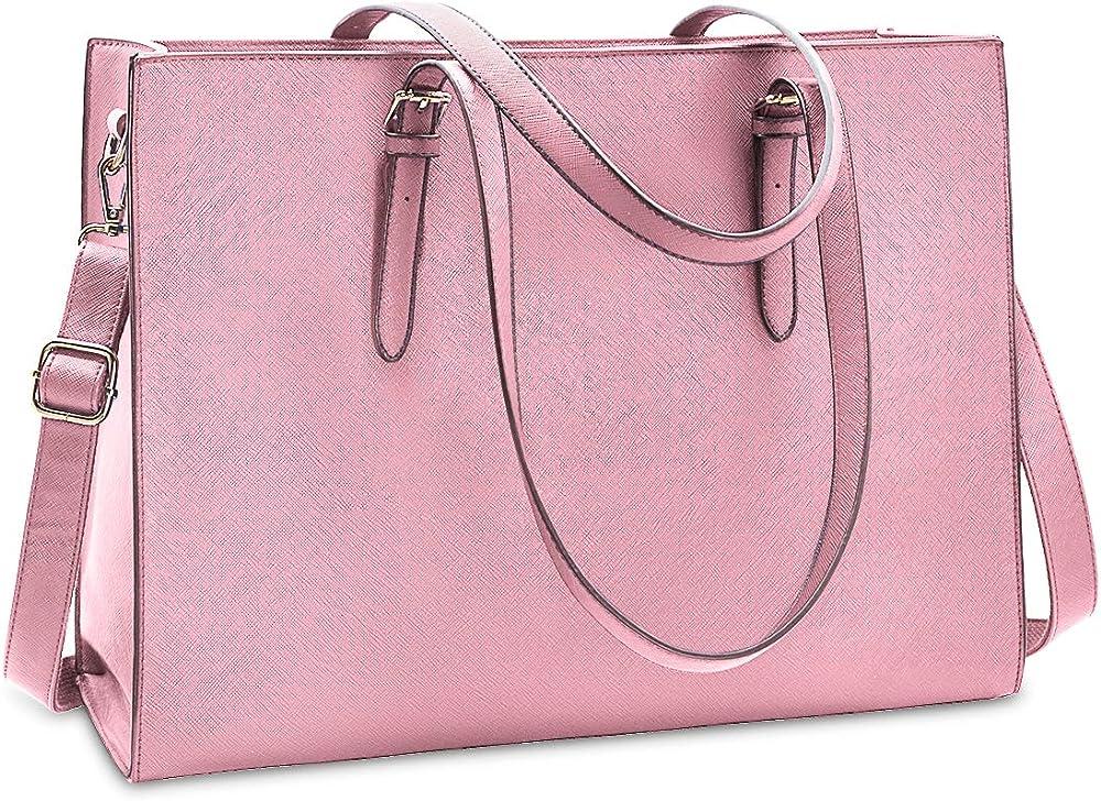 Nubily, borsa a tracolla/mano per donna, in morbida pelle sintetica, NB6602-pink