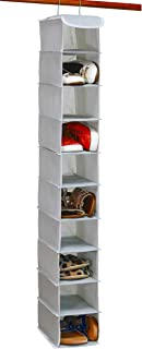Simple Houseware 10 Shelves Hanging Shoes Organizer Holder for Closet, Grey