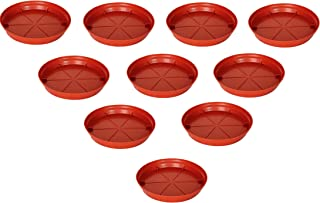 AASHU Planters Plastic drip Tray Bottom Tray (Size-7 inch Outer Dia, Inner 5.5 Inch)- Set of 10 Pcs