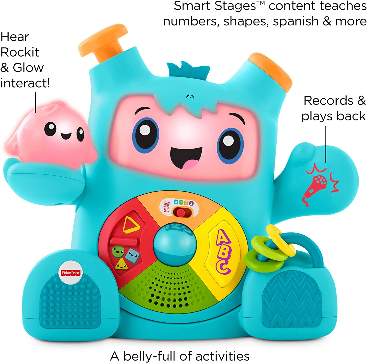 Fisher-Price Dance /& Groove Rockit Interactive Musical Infant Toy FNV41 Multicolor Exclusive