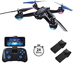 Akamino S6 WiFi FPV Drone, RC Quadcopter with 120° FOV 720P HD Camera for Adult, Portable Aircraft Toy for Beginners with Trajectory Flight, Gravity Sensor, 3D Flip, APP Control