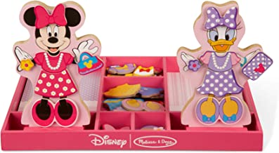 Melissa & Doug Disney Minnie Mouse and Daisy Duck Magnetic Dress-Up Wooden Doll (Pretend Play Set, Display Stands, Great Gift for Girls and Boys - Best for 3, 4, 5 Year Olds and Up)