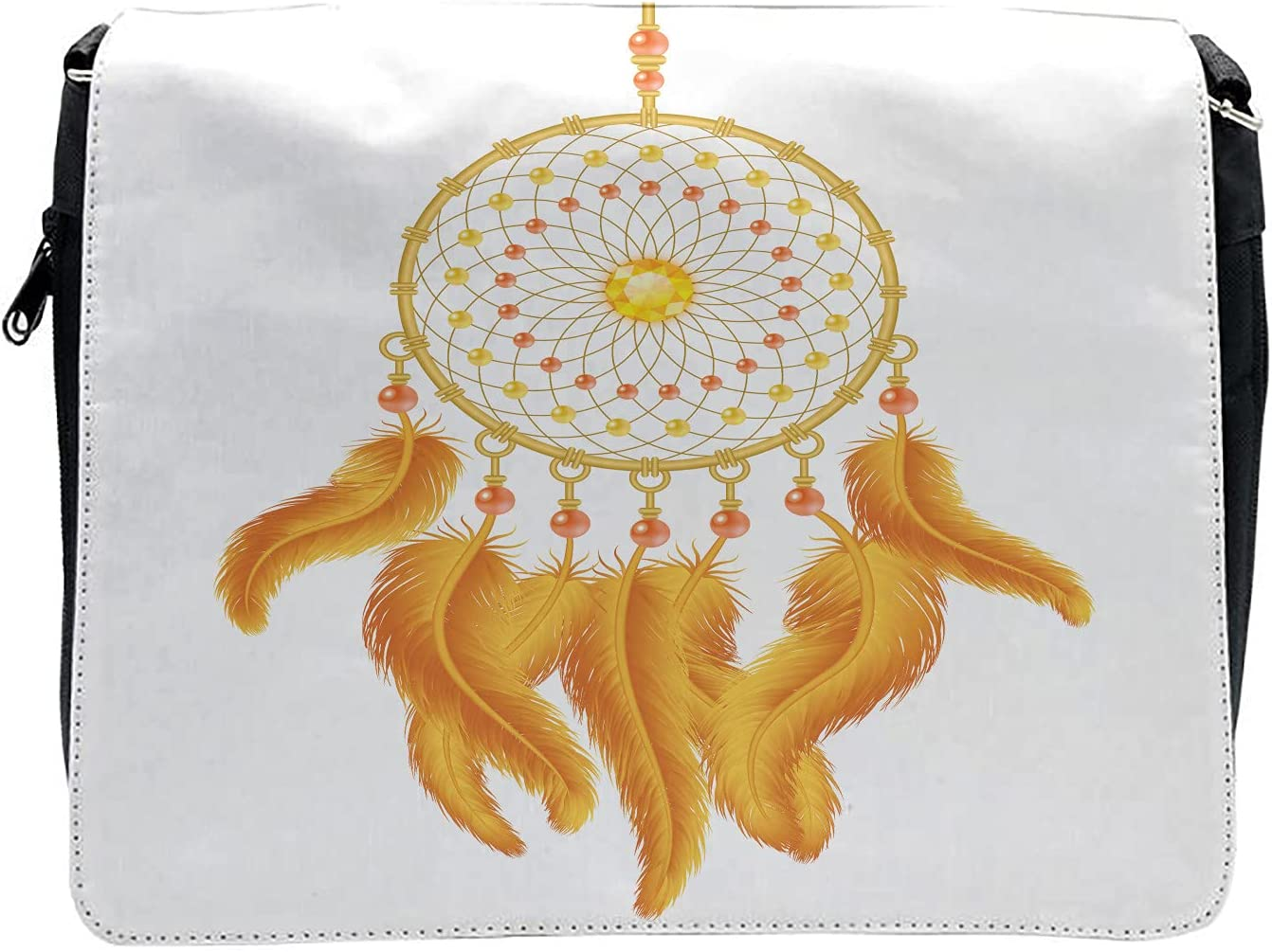Ambesonne Aztec Cross Body Messenger Bag, American Indigenous, Unisex