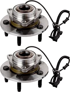 ECCPP Replacement for Pair of 2 New Complete Front Wheel Hub Bearing Assembly 5 Lugs w/ABS for 2009-2010 Dodge RAM 1500 51...