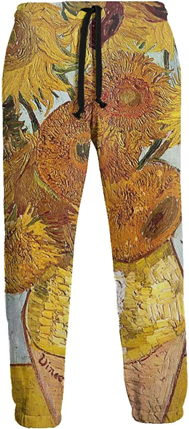 Ybrktl15- Max 45% OFF Mens Sunflower Oil Max 57% OFF Jogger Fashio Sweatpants Painting