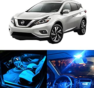 SCITOO LED Interior Lights 8pcs Ice Blue Package Kit Accessories Replacement Fits for 2015-2017 Nissan Murano