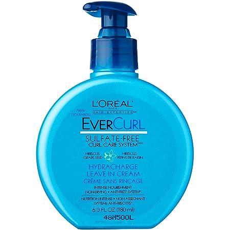 L'Oreal Evercurl Hydracharge Leave-In Cream, 6 Fluid Ounce