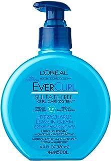 L'Oreal Paris EverCurl Hydracharge Leave-In Cream, 6.0 Fluid Ounce