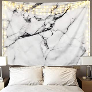 Sunm Boutique Black and White Tapestry Marble Tapestry Wall Hanging Tapestry for Home Decor(51.2