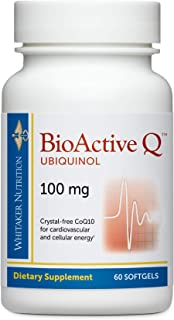 Dr. Whitaker's Bioactive Q Ubiquinol 100 mg Delivers Clinically Validated, Highly Bioavailable CoQ10 (60 Day Supply)
