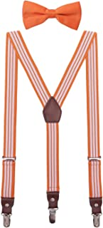white bow tie and suspenders set