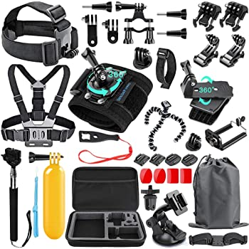 CHORTAU Action Cam Ckeyin 4K Ultra Navitech Action Camera Backpack /& 18-in-1 Accessory Combo Kit with Integrated Chest Strap Compatible with The Chilli Technology Action 3 HD