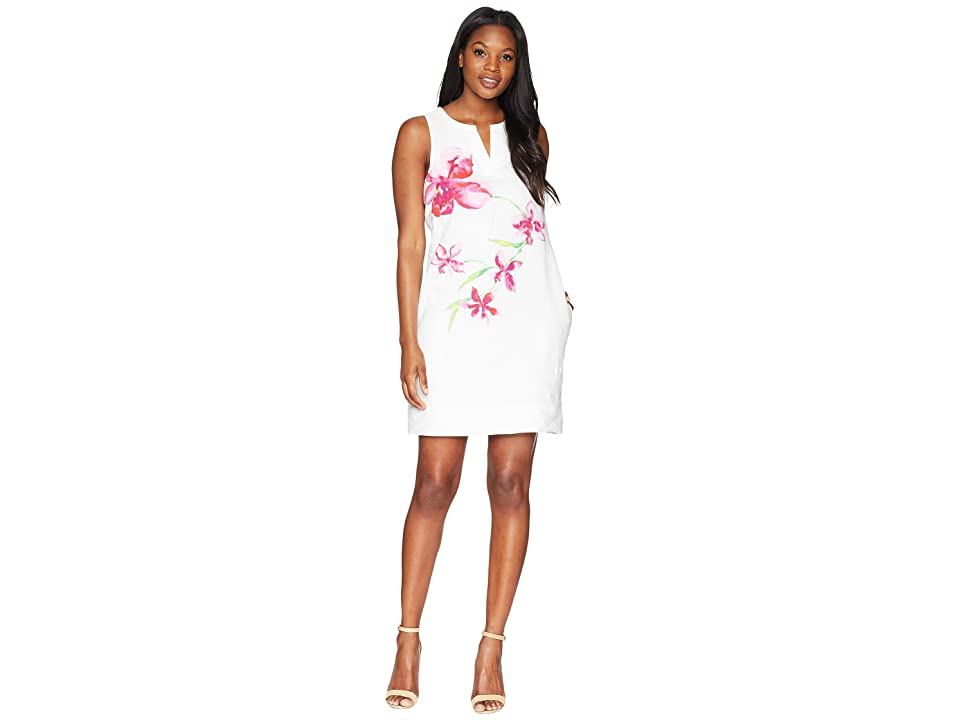 Tommy Bahama Floral Fade Shift Dress (White) Women