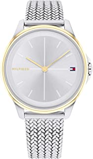 TOMMY HILFIGER DELPHINE WOMEN's SILVER WHITE DIAL WATCH - 1782357