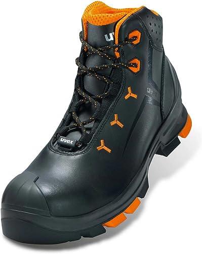 Uvex Sicherheitsstiefel S3 Tamaño  43 schwarz, Orange 2 6503243 1 par