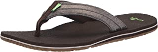 حذاء Sanuk Land Shark ذو قلاب للرجال ، بني داكن، 13 M US