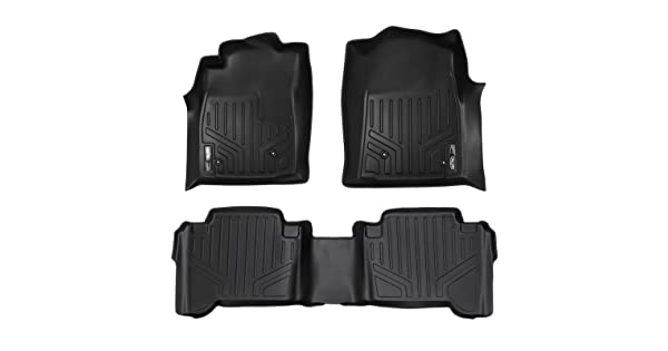 SMARTLINER Floor Mats 2 Row Liner Set Black for 2005-2011 Toyota Tacoma Double Cab Maxliner USA A0033//B0033 No Manuals