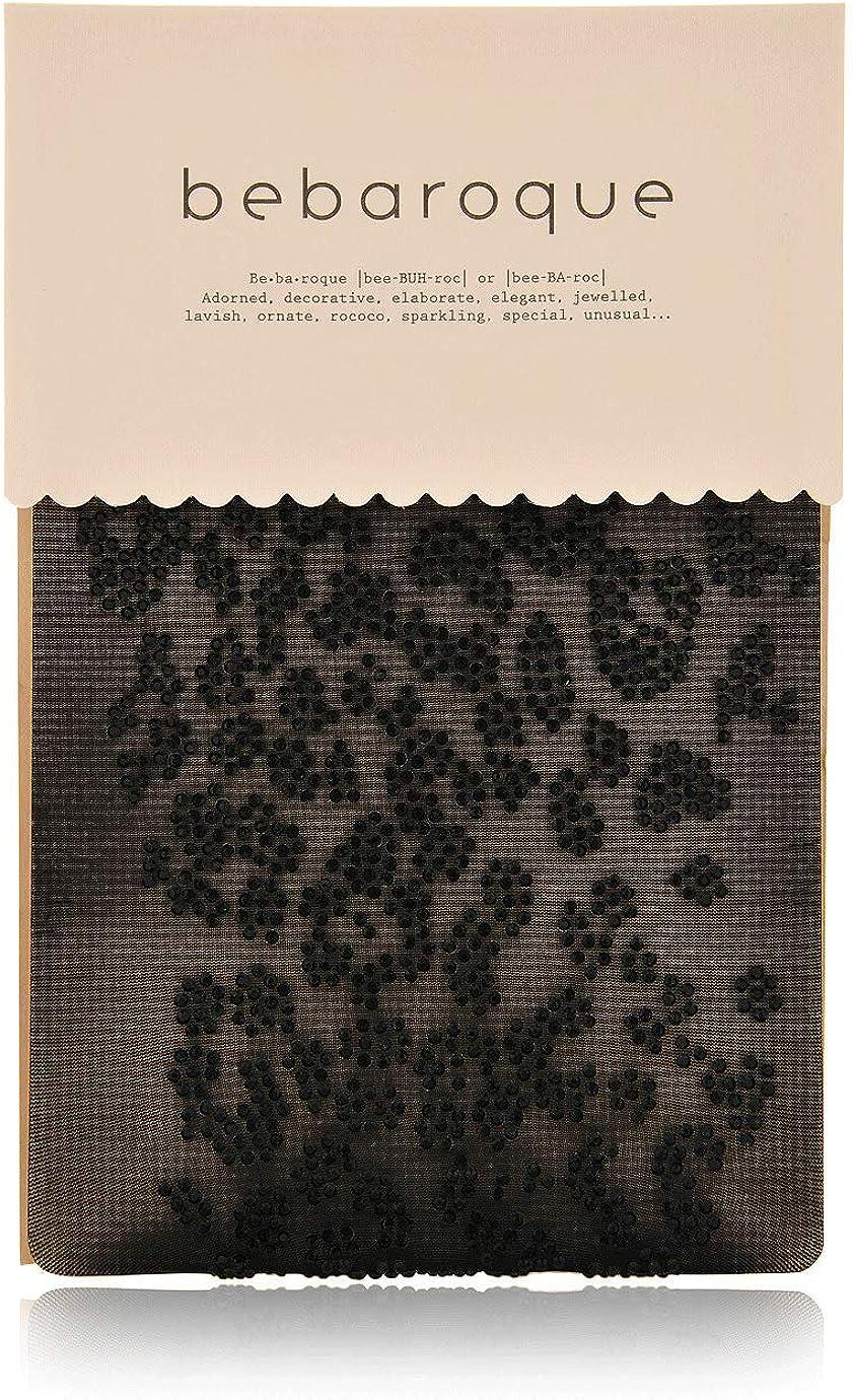 BEBAROQUE BEAR Black Sheer Embellished Tights