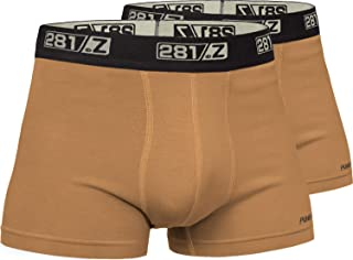 281Z Military Underwear Cotton 2-Inch Boxer Briefs - Tactical Hiking Outdoor - Punisher Combat Line (2 Pair Pack)