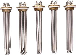 "JIAN SUS304 DN32 1 1/4""BSP 48V / 36V / 24V DC Tubular Water Heater Element Immersion Heater Exquisite (Voltage : 24V 600W)"