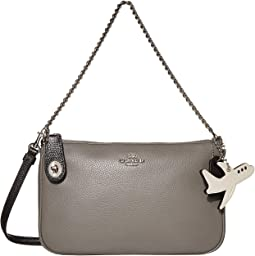 코치 노리타 크로스바디백, 비행기 참 COACH Color-Block Pebbled Leather Airplane Nolita Crossbody