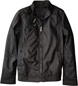 Adam Faux Leather Perforated Moto Jacket (Little Kids/Big Kids)