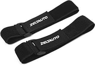 Zeltauto Elastic Hook and Loop Cable Tie Fastening Cable Strap Adjustable Magic Securing Cord Organizer (Black, 20 In, 2 Pcs)