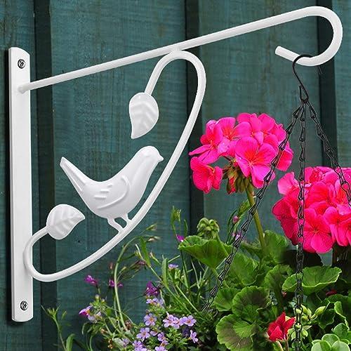 Amagabeli 2 Pack Hanging Plants Brackets 12'' Wall Planter Hooks Hangers Flower Pot Bird Feeder Wind Chimes Lanterns ...