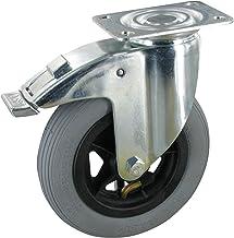 Zwenkwiel met vastzetwiel 150 mm luchtbanden kogellagers draagvermogen: 60 kg