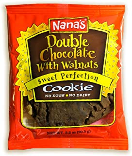 Nana's Double Chocolate Cookies, 3.2 oz Packages (Pack of 12)