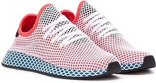 adidas Deerupt Runner Womens in Solar Red/Bluebird