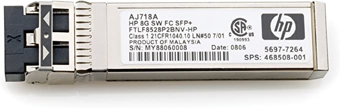 HPE HP 8GB Short Wave FC SFP+ 1 Pack