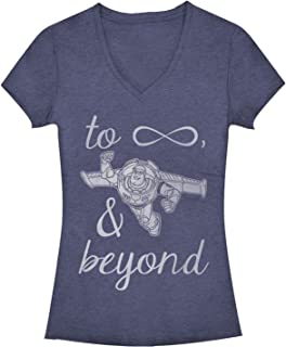 Women's Toy Story Buzz Lightyear to Infinity and Beyond V-Neck Tee