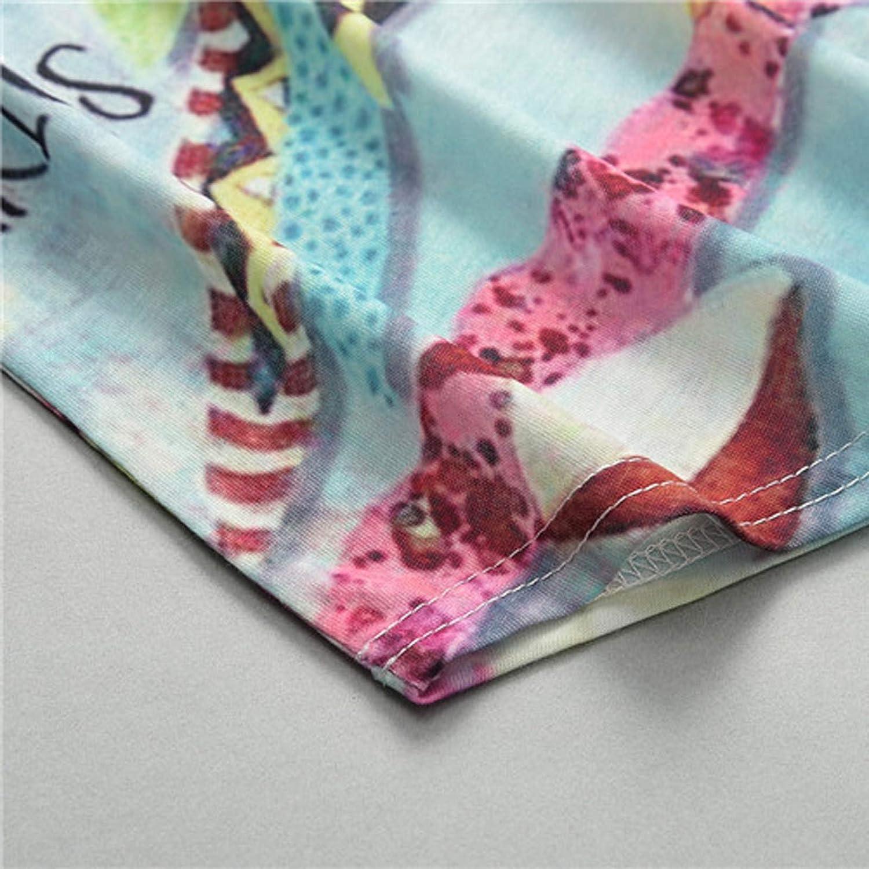 Casual Impresi/ón Manga Corta O-Cuello Tops Blusa Tops,de Moda Sudadera Casual Top T/única Tops Jersey Largo YANFANG Camiseta para Mujer