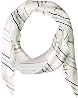 Pin Stripe Silk Diamond Shape Scarf