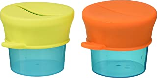 Boon Baby-Boys Snug Snack, Green, (2 Cups, 2 Lids)