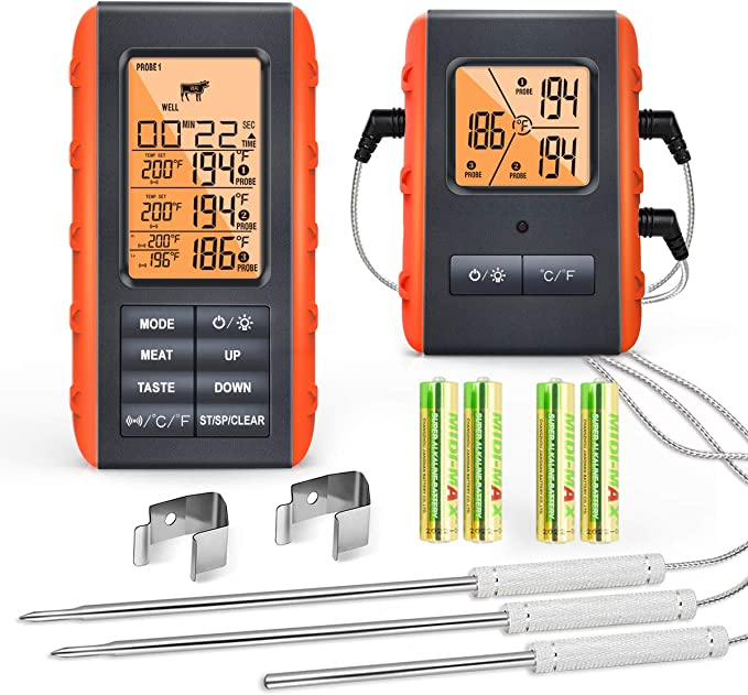 VAUNO Wireless Meat Thermometer for Grilling - Excellent Wide-Range Thermometer