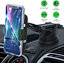 LEXONIX Wireless Car Charger Mount, Qi Wireless Car Charger Fast Charging Phone Holder for Car, Provides 10w for Samsung Galaxy S10 /S10+/S9 /S9+/S8 /S8+ or 7.5w iPhone Xs/Xs Max/XR/X/ 8/8 Plus