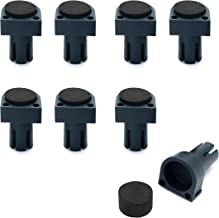 POWERTEC 71500 Deluxe Bench Dog | 8 Pack | Non Marring Durable Nylon| With Grommet Bench Brake Inserts Made of Premium Non...