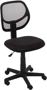 AmazonBasics Low-Back, Upholstered Mesh, Adjustable, Swivel Computer Office Desk Chair, Black