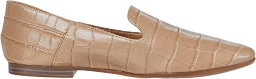 Bamboo Tan Croco Print Leather