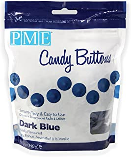 PME Candy Buttons - Dark Blue . 340 grams / 12 Oz. Like Wilton Melts. Perfect for Cake Pops and other Candy & Chocolate Making by The Baker Shop