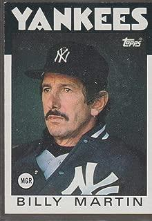 1986 Topps Billy Martin Yankees Baseball Card #651