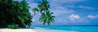 Maldives Tropical Beach Poster Print 12x36