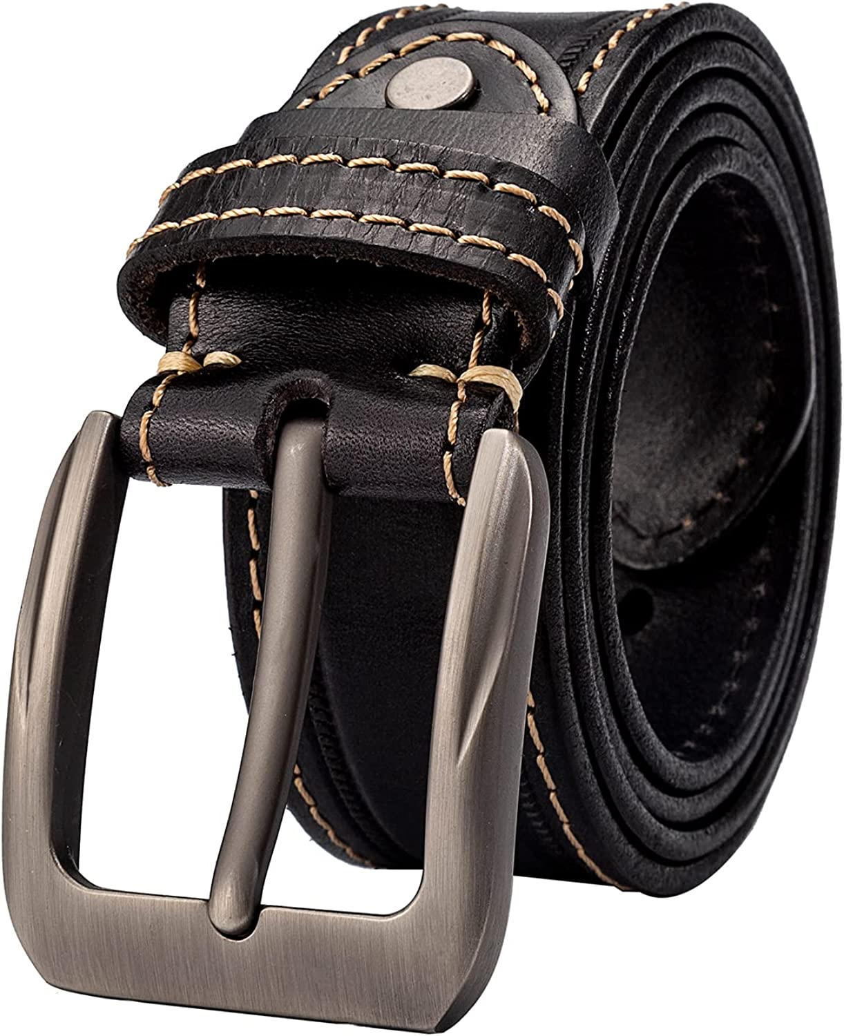 Genuine Leather Belt Spring new work for Men Max 78% OFF 1.5 Brown Wide Wo Casual Jeans