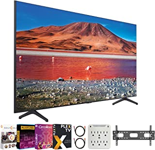"SAMSUNG UN43TU7000 43"" 4K Ultra HD Smart LED TV (2020 Model) Bundle with Premiere Movies Streaming 2020 + 30-70 Inch TV Wa..."