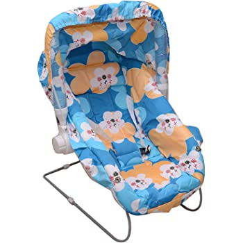 Tender Care Multipurpose (10 in 1) Baby Carry Cot/Baby Bouncer with Mosquito Net and Sun Shade (Blue)